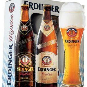 A Erdinger é uma cerveja de trigo de alta fermentação, que possui como características principais, espuma cremosa, aromas de banana e cravo e um leve amargor. Por não ser filtrada, apresenta um aspecto turvo. Um dos clássicos rótulos que seguem a tradicional Lei da Pureza de 1516.